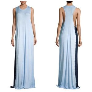 {Hudson} Tie Dye Racer Back Henley Maxi Dress